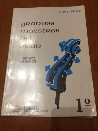 Grandes maestros del violín Ed. Real Musical Madri