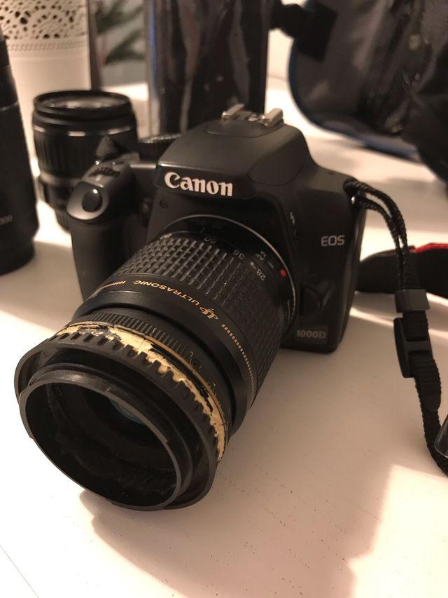 CANON EOS 1000D 18-55 y 75-300