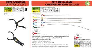 SET DE 5 VARILLAS COMPROBACIÓN DE ACEITE