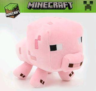 peluche cerdo minecraft, nuevo