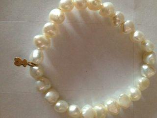 pulsera Tous perlas cultivadas y el osito oro 18 k