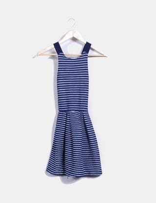 Vestido rayas azul y blanco stradivarius