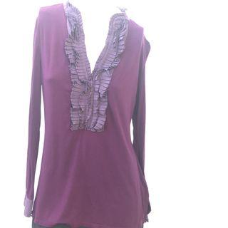 MANOUKIAN suéter color berenjena talla L pechera