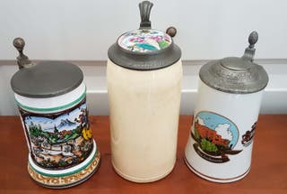 3 jarras de cerveza alemanas antiguas