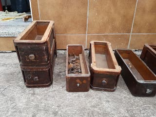 antiguos cajones de maquinas de coser singer