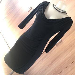 TWINSET vestido escote espalda midi licra talla m