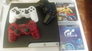 PS3 + 3 MANDOS. NEGOCIABLE