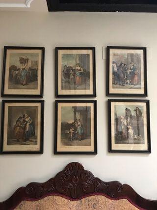 Colección de láminas antiguas