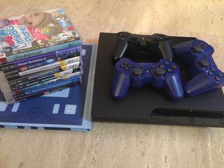 Play Station3+3 mandos y juegos