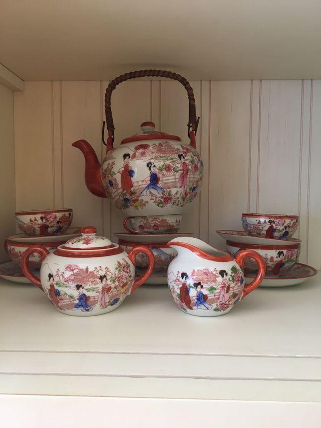 Porcelana fina china antigua