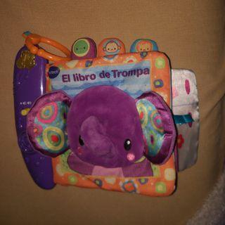 Libro tela bebé elefante con música