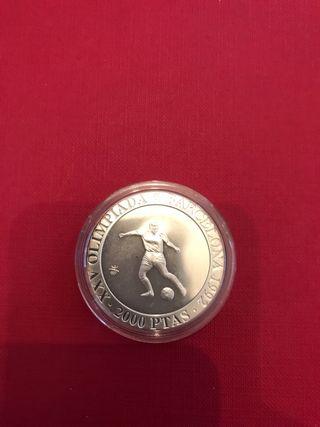 Moneda de 2000 pesetas plata año 1990