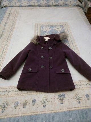abrigo de niña color morado talla 6