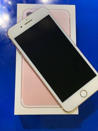 IPHONE 7PLUS 128gb, Oro Rosa en perfecto estado