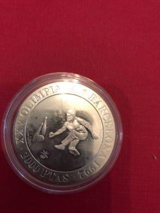 Moneda de 2000 pesetas plata año 1991