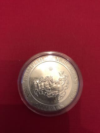 Moneda de 2000 pesetas plata año 1992