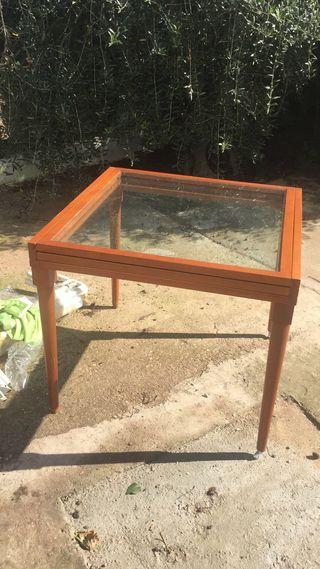 Mesa de cristal extensible
