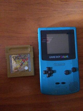 Game boy color + Pokemon edición oro