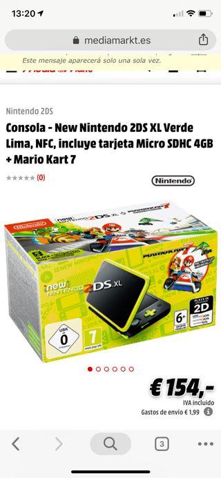 New Nintendo 2ds XL nueva sin usar con juegos