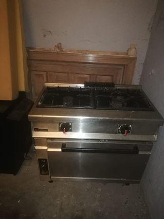 cocina con horno, 2 fuegos
