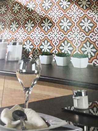 Gres y rev mosaico centro gótic 20x20