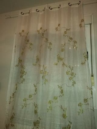 cortinas bordadas