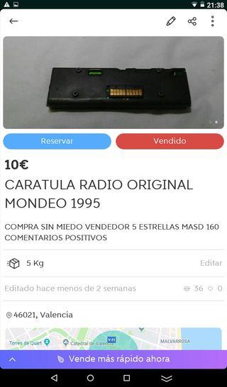Caratula de radio mondeo 1995