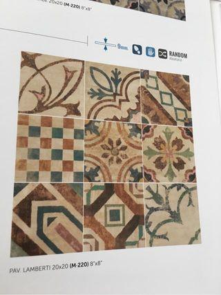 Gres mosaico pav y rev lamberti 20x20 en 1 calidad