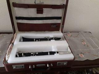 venta de clarinete alemán antiguo de madera