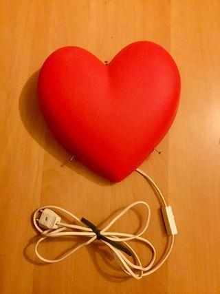 Lámpara de corazón.