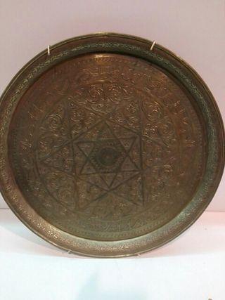 plato de bronce para colgar