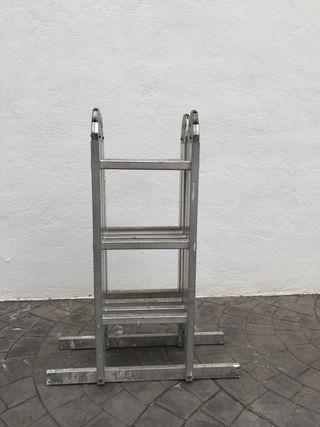Escalera plegable de aluminio, andamio, caballete
