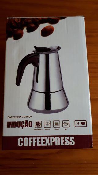 cafetera inox induccion 6 tazas nueva a estrenar