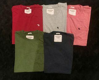 5 Camisetas Abercrombie Talla L