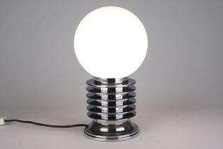 lampara cromada