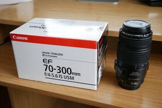 Objetivo Canon 70-300mm f/4-5.6 IS USM