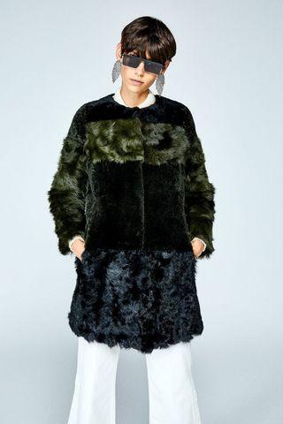 Sfera abrigo piel negro