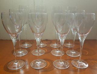 Juego de copas de cristal