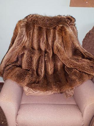 chaqueta de piel de marmota