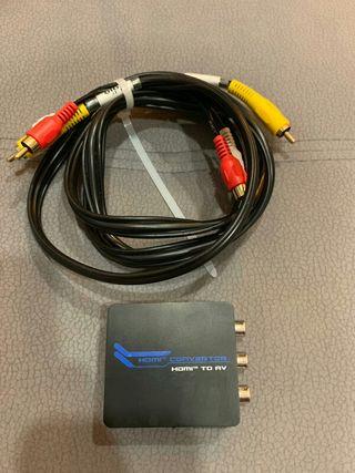 Convertidor HDMI AV (RCA cable video audio imagen)