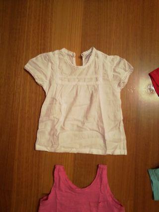 Camisetas manga corta niña. Talla 2 años
