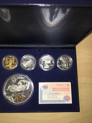 Monedas Dali 2004. Oro y plata. Serie completa.