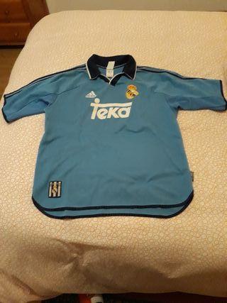 camiseta real Madrid 1999/2000 azul