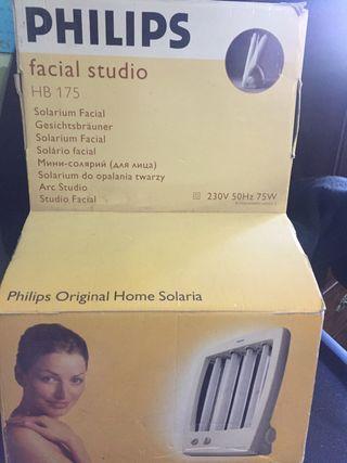 Solarium de bronceado facial marca philips hb175