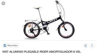 "Bicicleta 20"" plegable Folding WST aluminio"