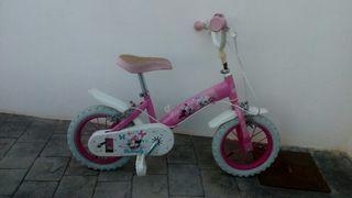 Bicicleta miny mouse niña rosa