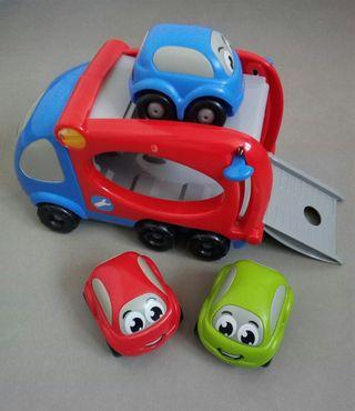 camión remolque coches Smoby