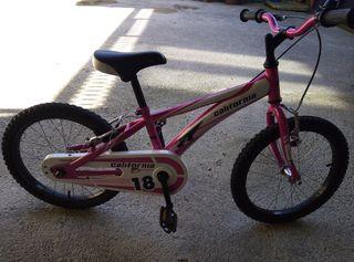 vendo bicicleta de niña de 18 pulgadas