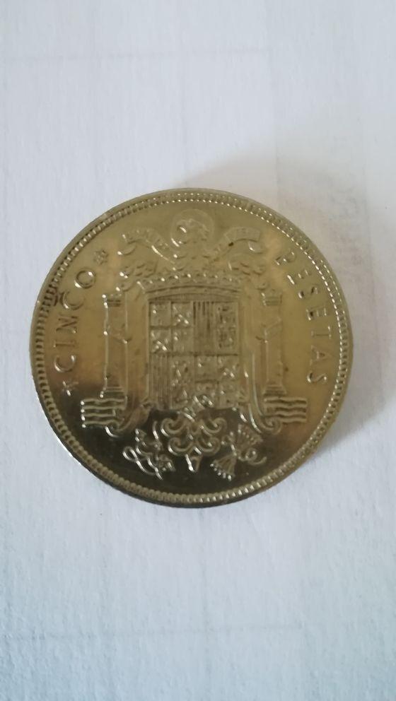 moneda de 5 pesetas de 1949 estrella 49
