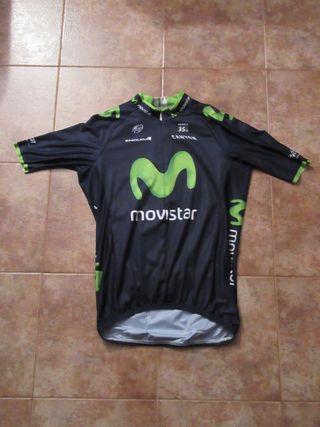 Ciclismo Movistar Endura maillot ciclista original